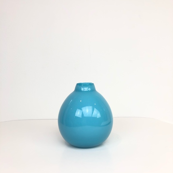 West Elm Other - West Elm Blue Ceramic Glazed Vase